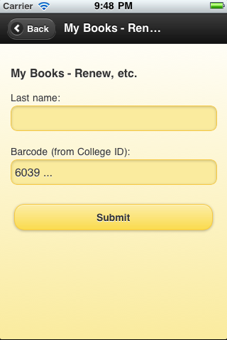 Albion College Library book renewal