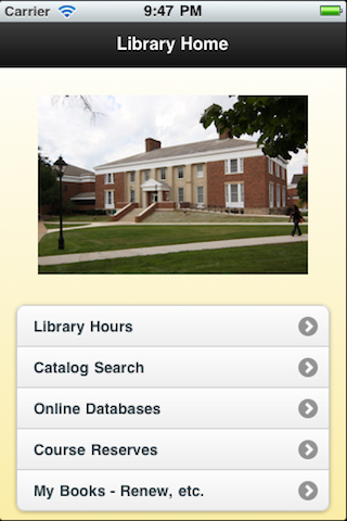 Albion College Library homepage